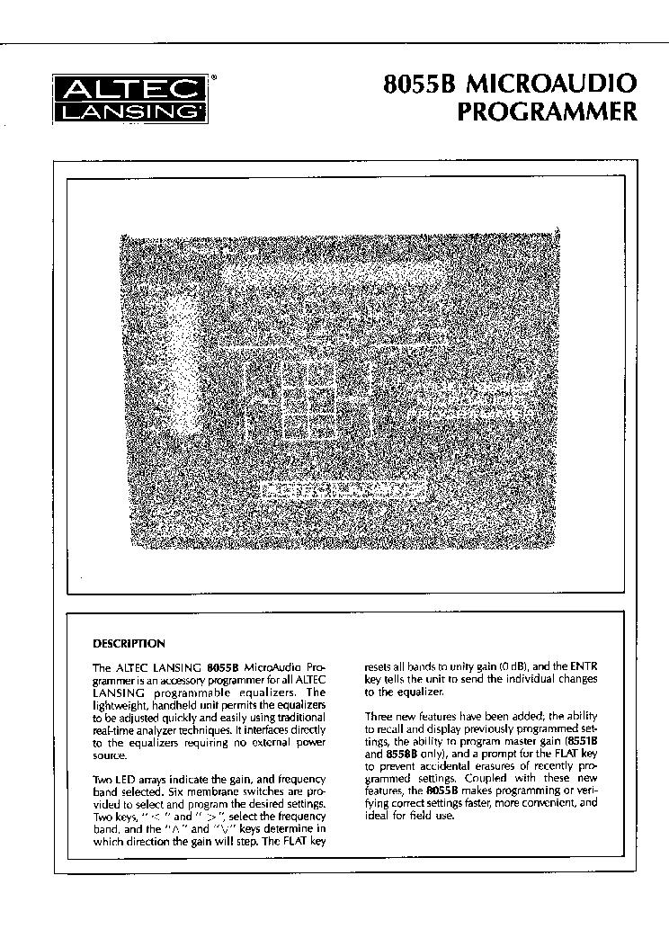 altec lansing manuals in pdf