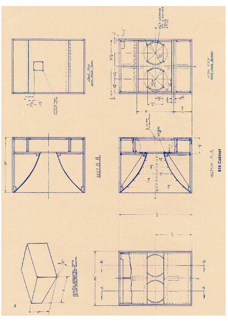 Altec Lansing 815 Cabinet For Loudspeaker System Hangfal