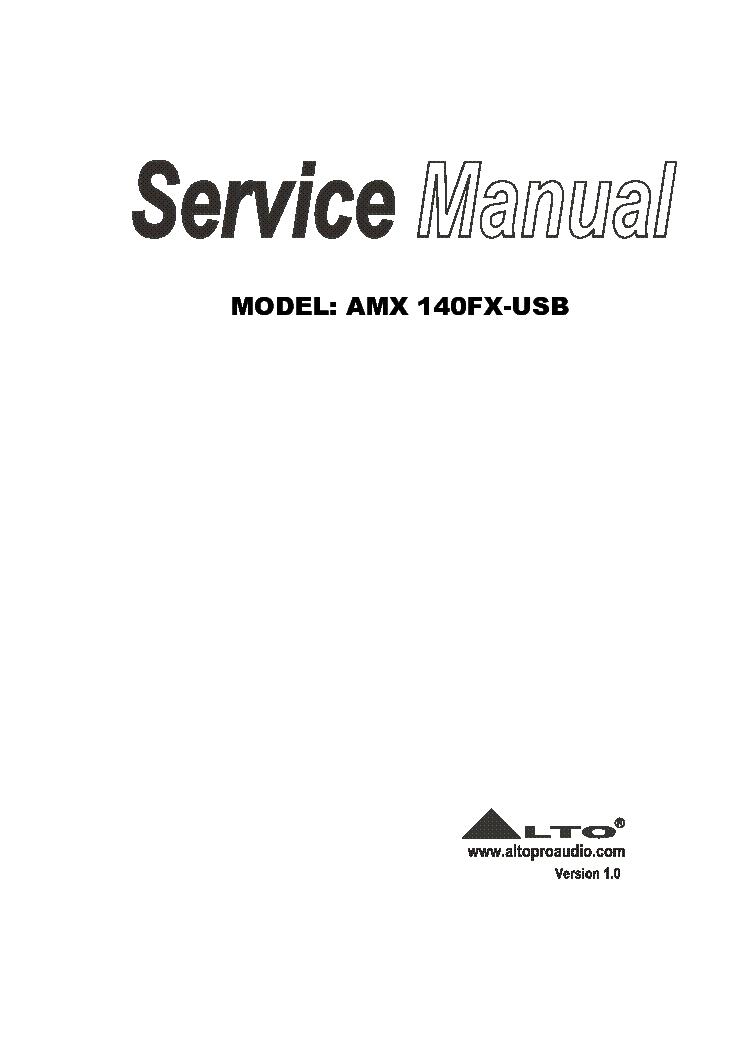 ALTO X23SW ACTIVE CROSSOVER Service Manual download, schematics ...