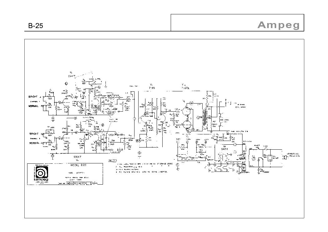 AMPEG B-25 SCH Service Manual download, schematics, eeprom, repair