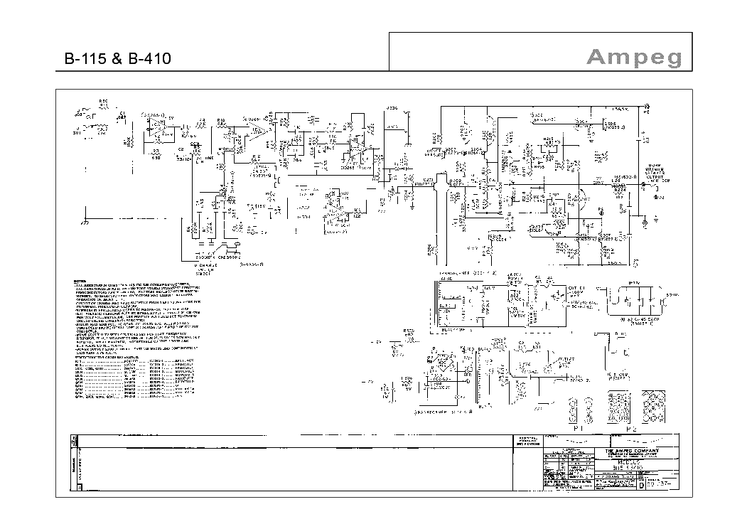 Vintage ampeg schematics opinion