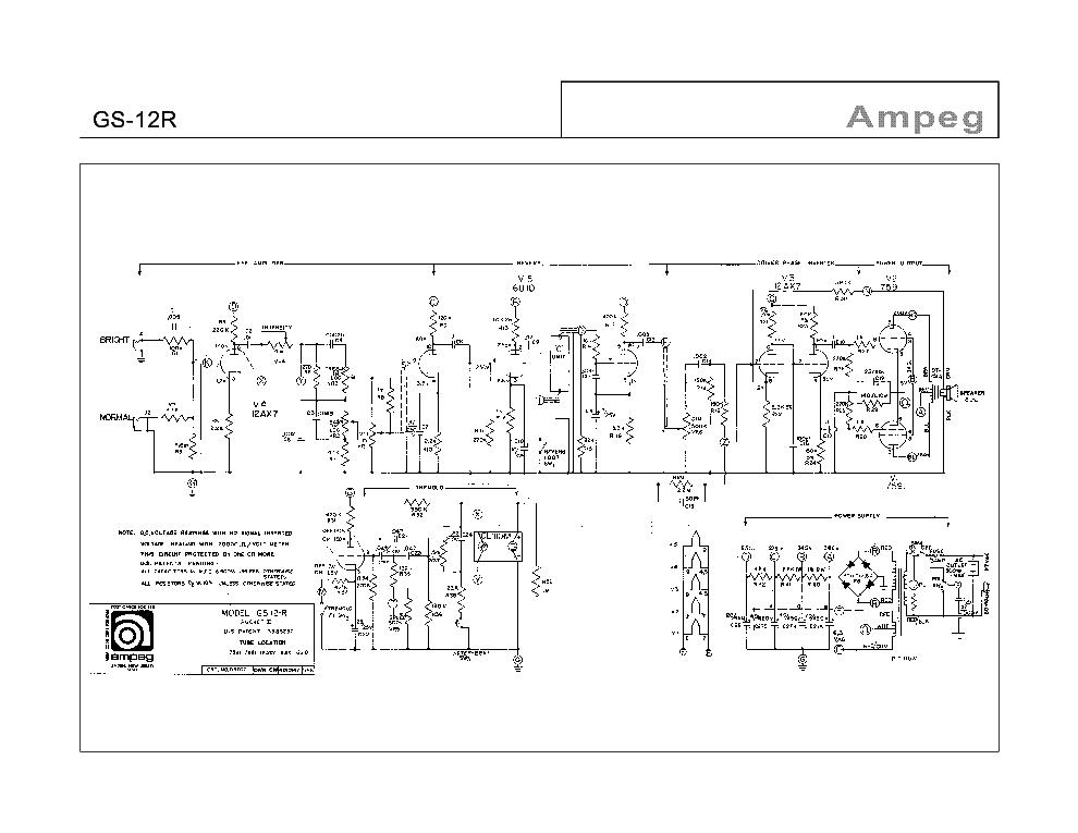 Share your Vintage ampeg schematics