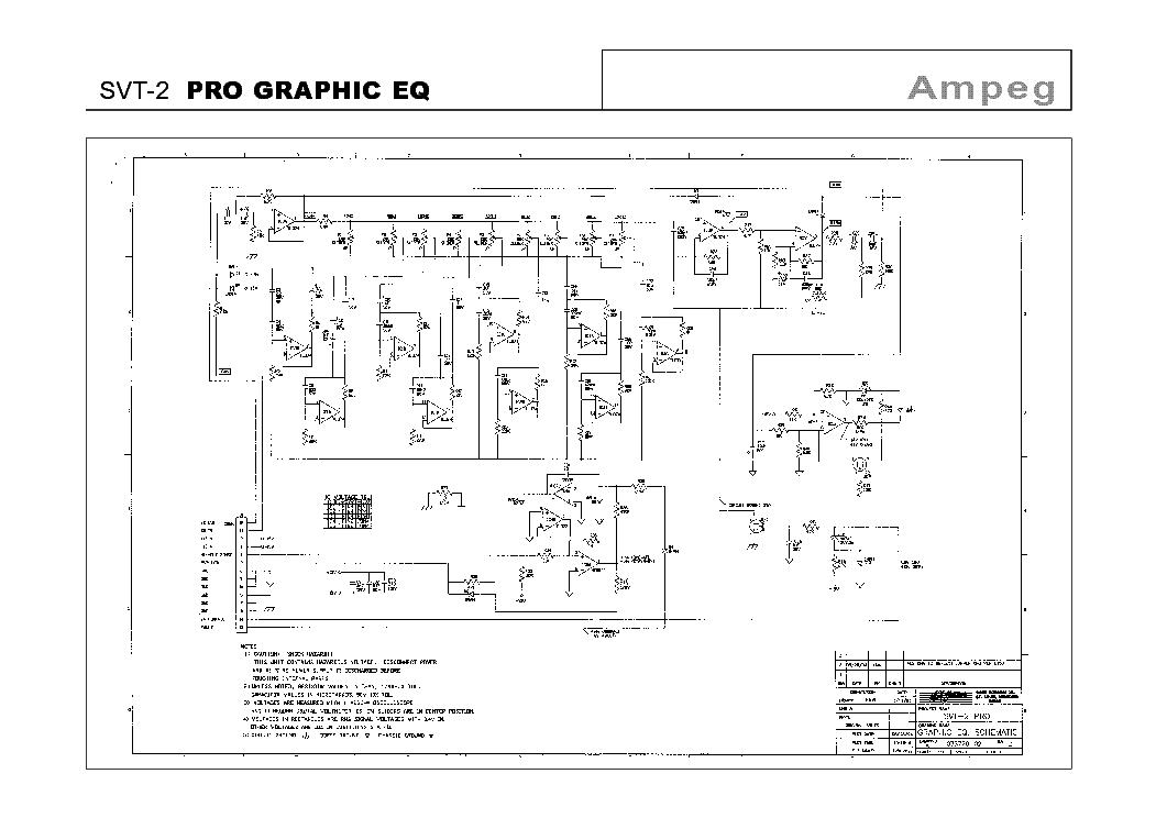 AMPEG SVT-2 PRO GRAPHIC EQ Service Manual download, schematics ...