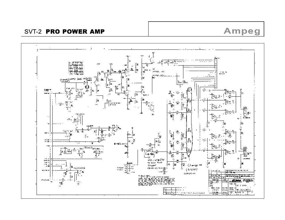 AMPEG SVT-2 PRO POWER AMP Service Manual download, schematics ...
