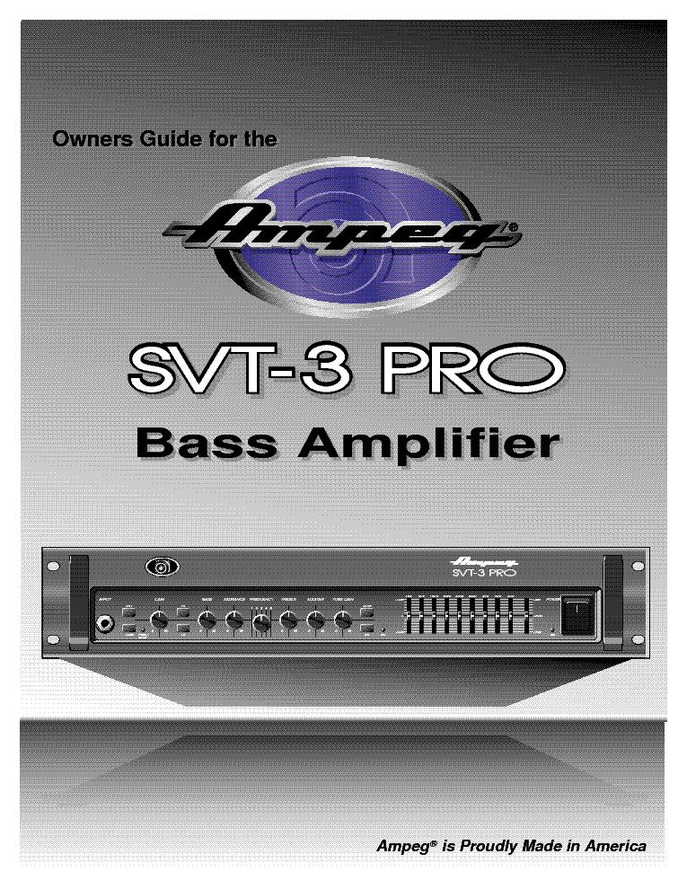 AMPEG SVT-3-PRO Service Manual download, schematics, eeprom