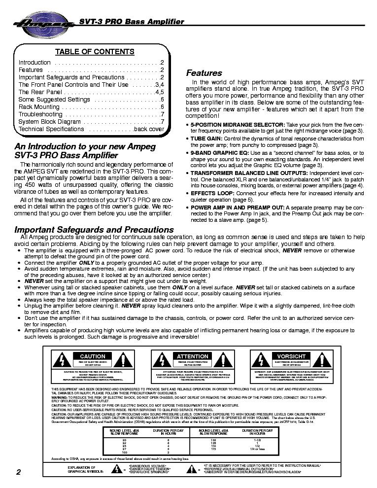 Ampeg svt classic service manual