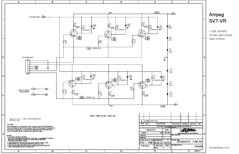 AMPEG SVT-VR AMPLIFIER SCH Service Manual download, schematics, eeprom,  repair info for electronics expertsElektrotanya