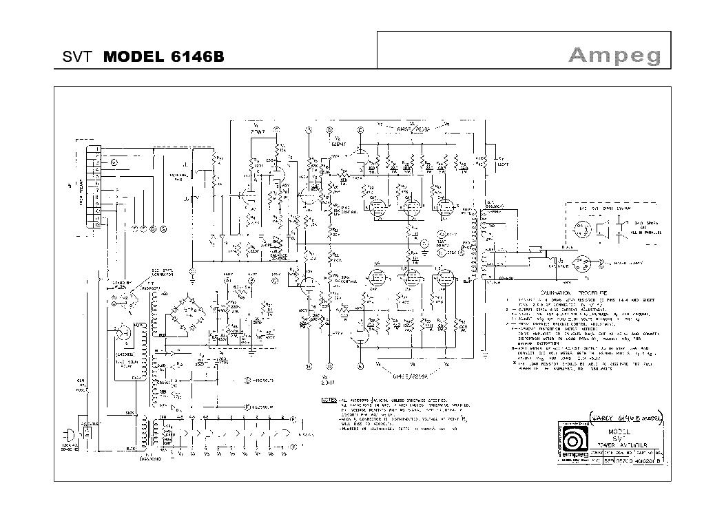 AMPEG SVT MODEL 6146B SCHEMATIC Service Manual download, schematics ...