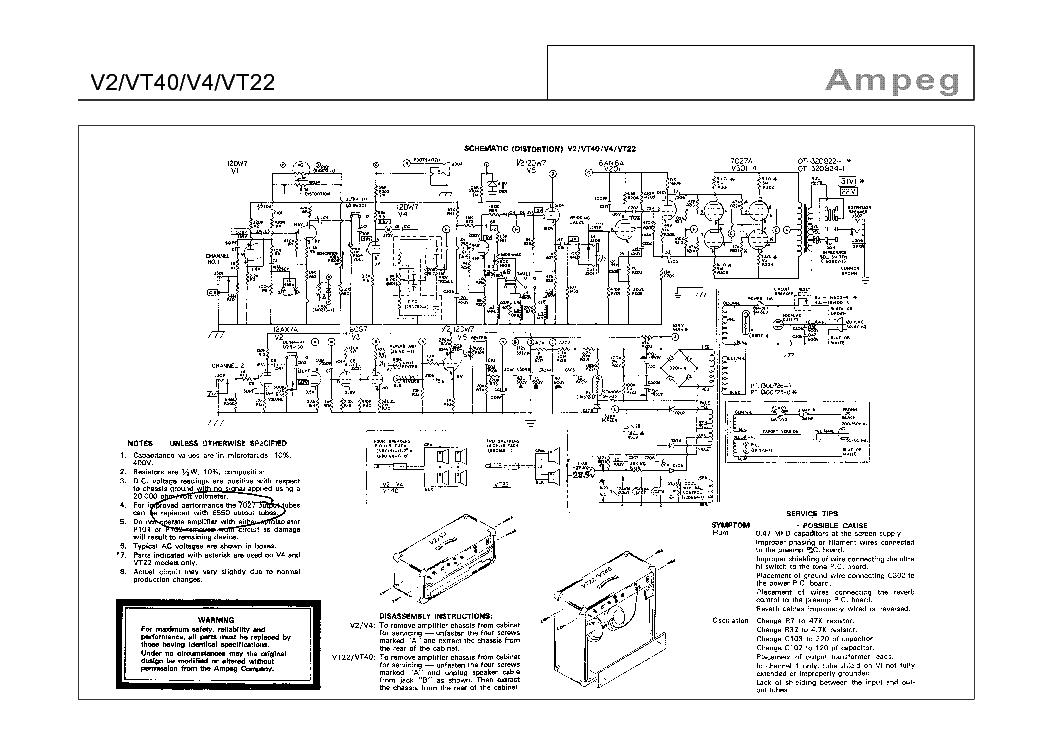 Ampeg v6b Schematic