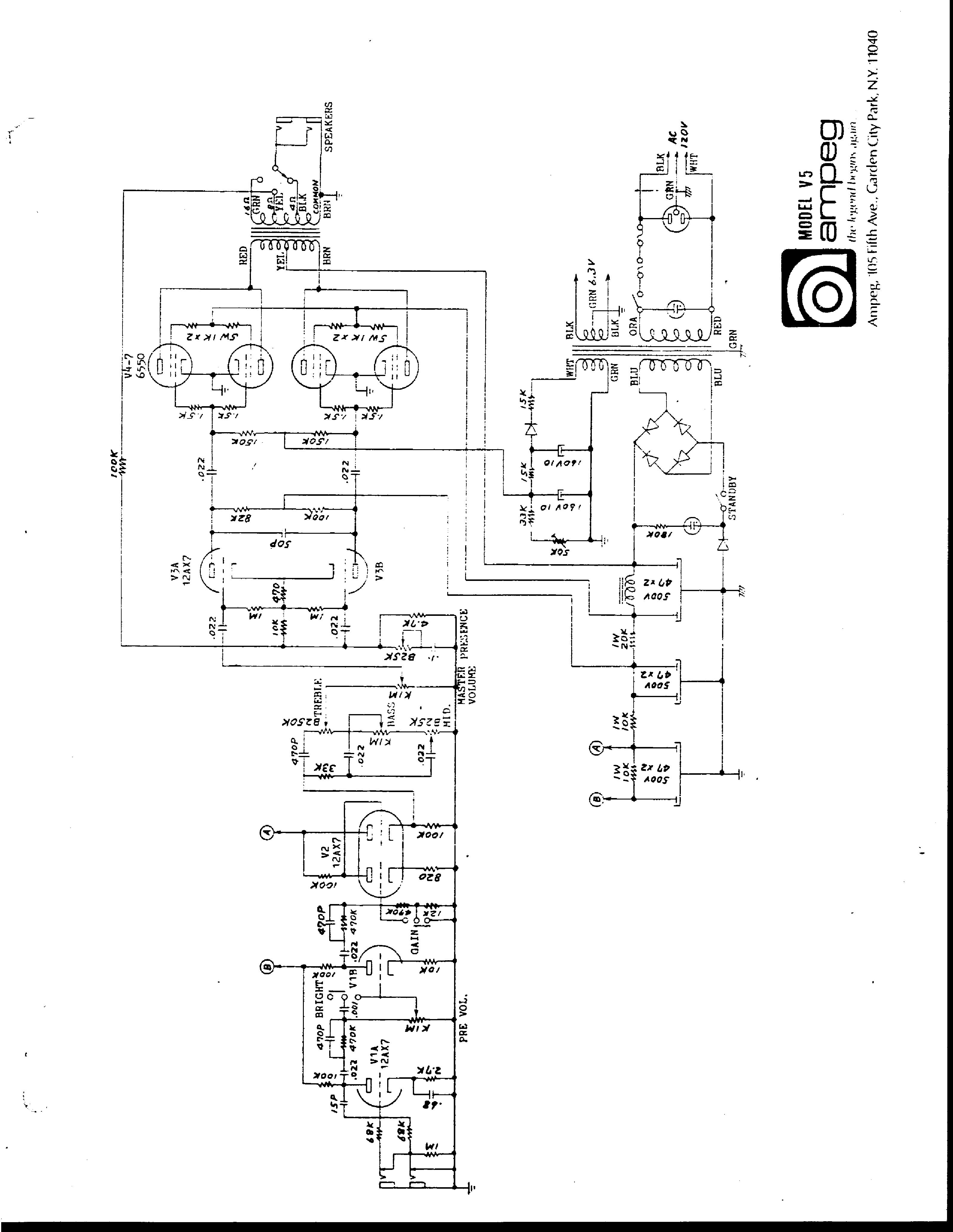 ampeg v5 schematic