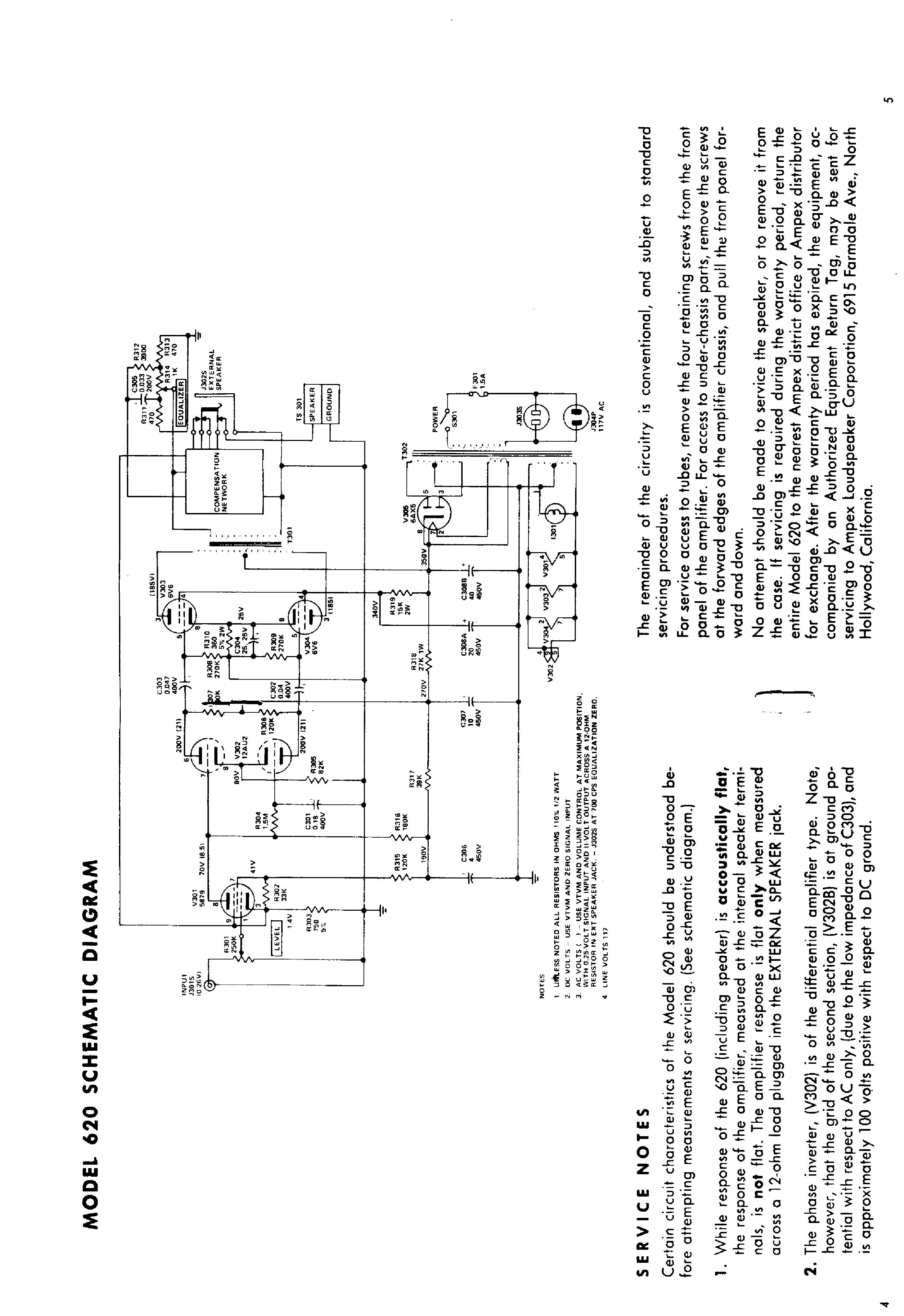 ampex 620 service manual download  schematics  eeprom