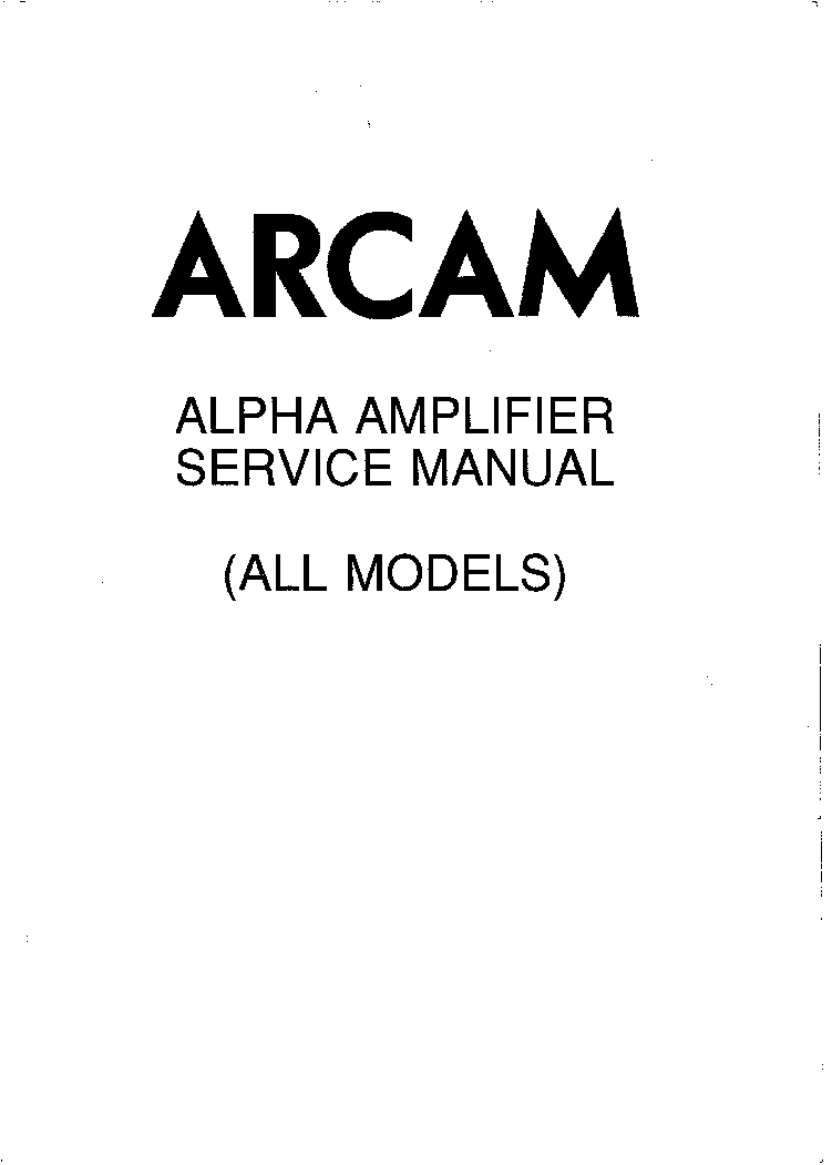 arcam alpha amplifier all models sm service manual download rh elektrotanya com