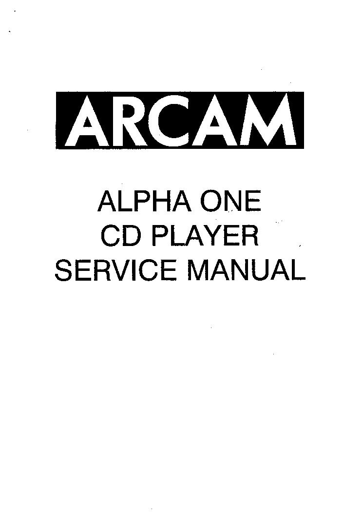 arcam alpha 9 cd player manual
