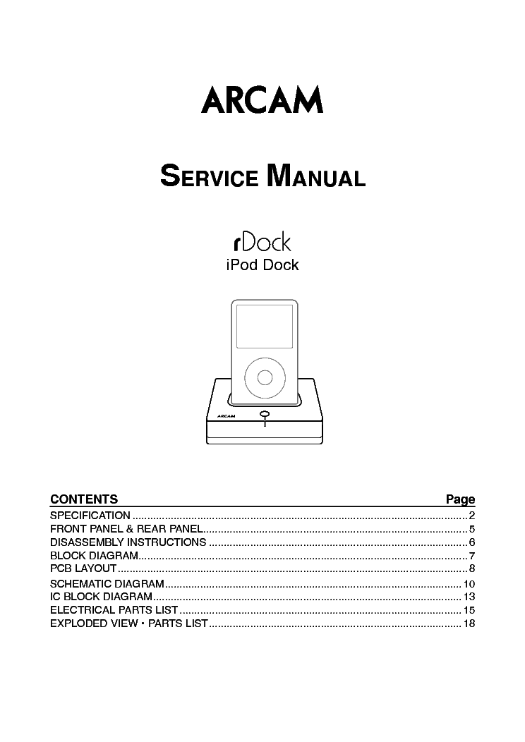 arcam rdock ipod dock service manual download schematics eeprom rh elektrotanya com Apple iPod Nano Manual Apple iPod Nano Manual