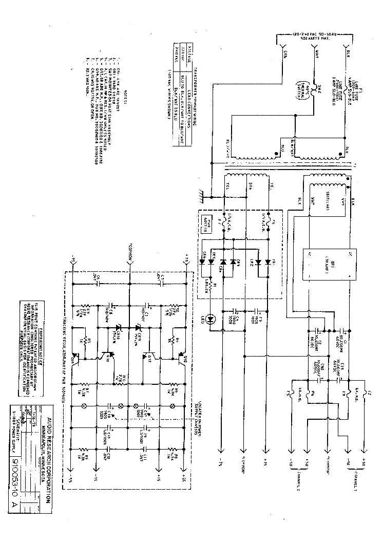 Audio Research D100b Service Manual Download Schematics