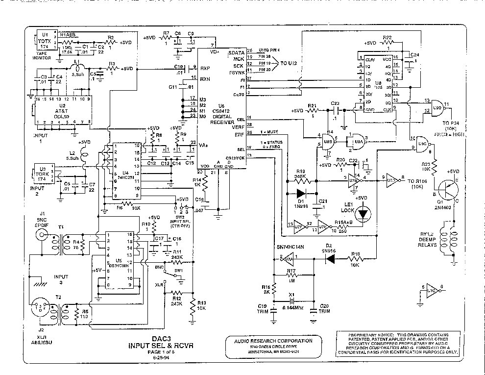 Integrated Circuit Schematic Diagram