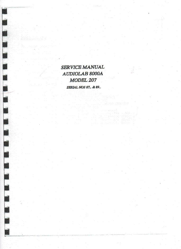 audiolab 8000a model 207 sm service manual download schematics rh elektrotanya com Parts Manual Repair Manuals