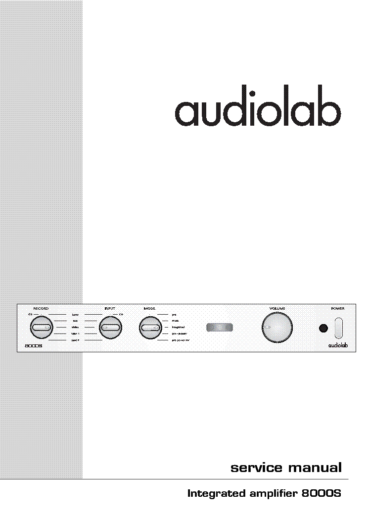 AUDIOLAB 8000S service manual (1st page)