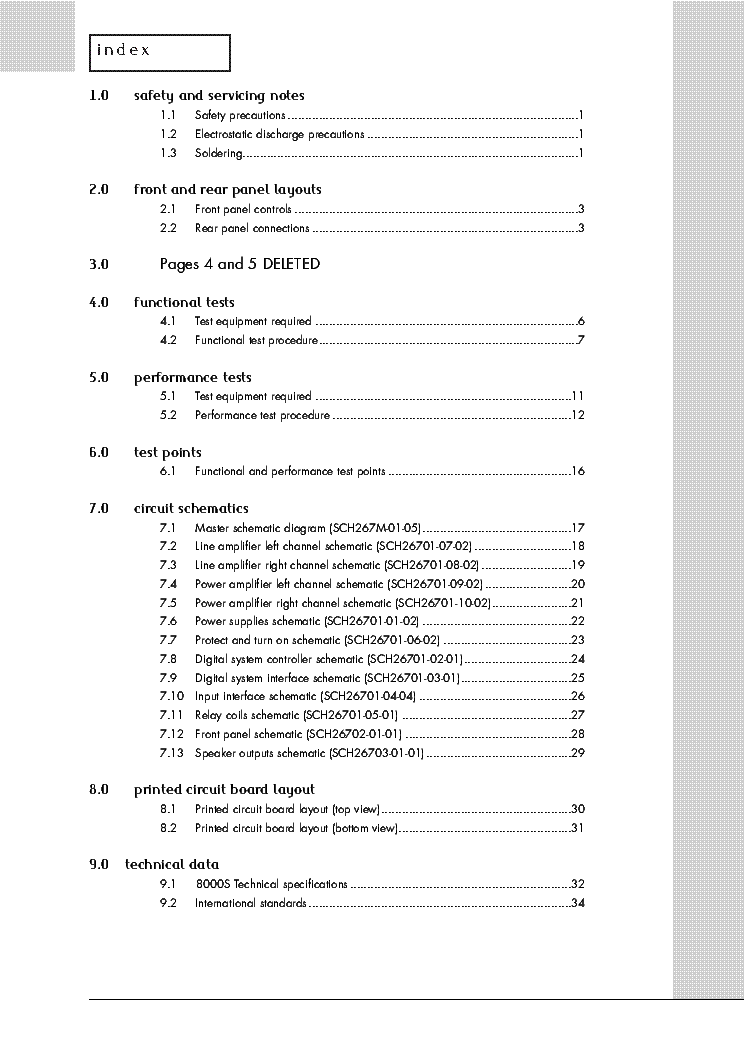 AUDIOLAB 8000S service manual (2nd page)