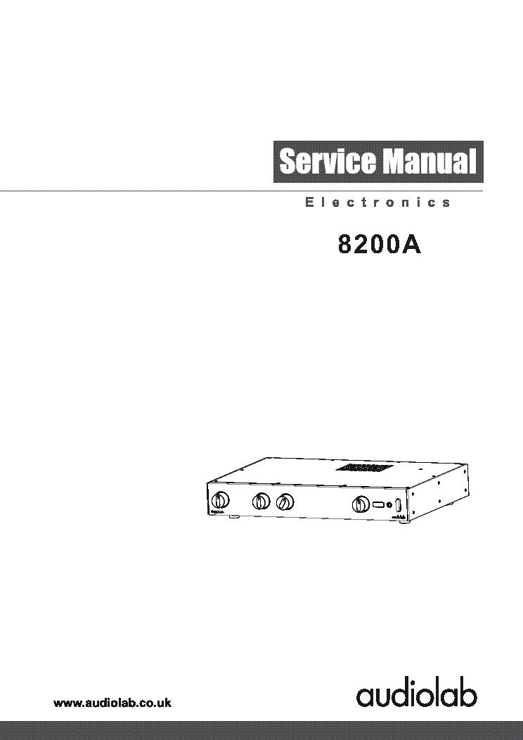 audiolab 8200a sm service manual download schematics eeprom rh elektrotanya com Parts Manual audiolab 8000cde service manual