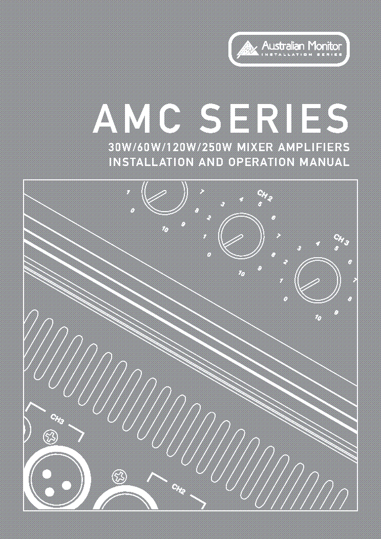 Australian Monitor Amc120 Sm Service Manual Download