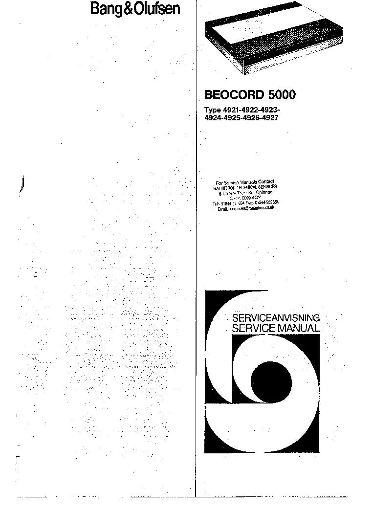 beocenter 8000 service manual