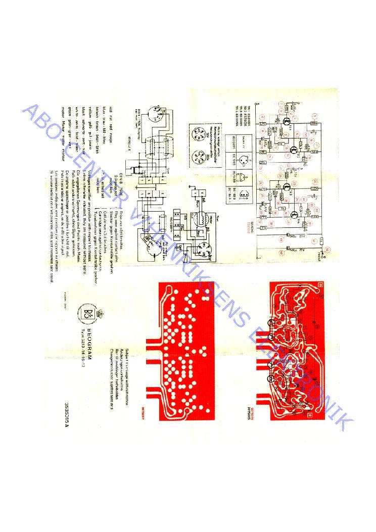 Beogram 4002 Type 5521 Service Manual