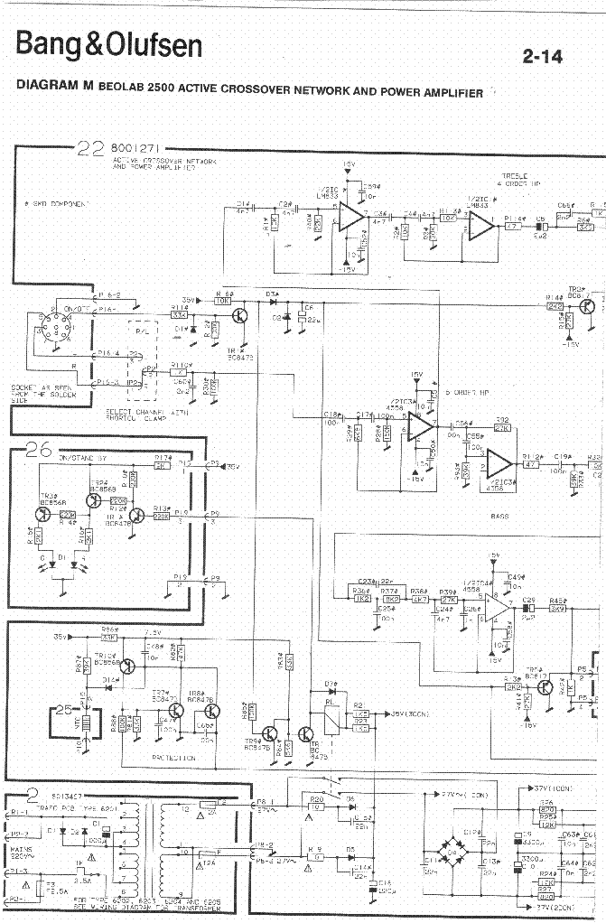 bang olufsen_beolab 2500_sch.pdf_1 b&o schematics the wiring diagram readingrat net ra-4000 installation manual at readyjetset.co