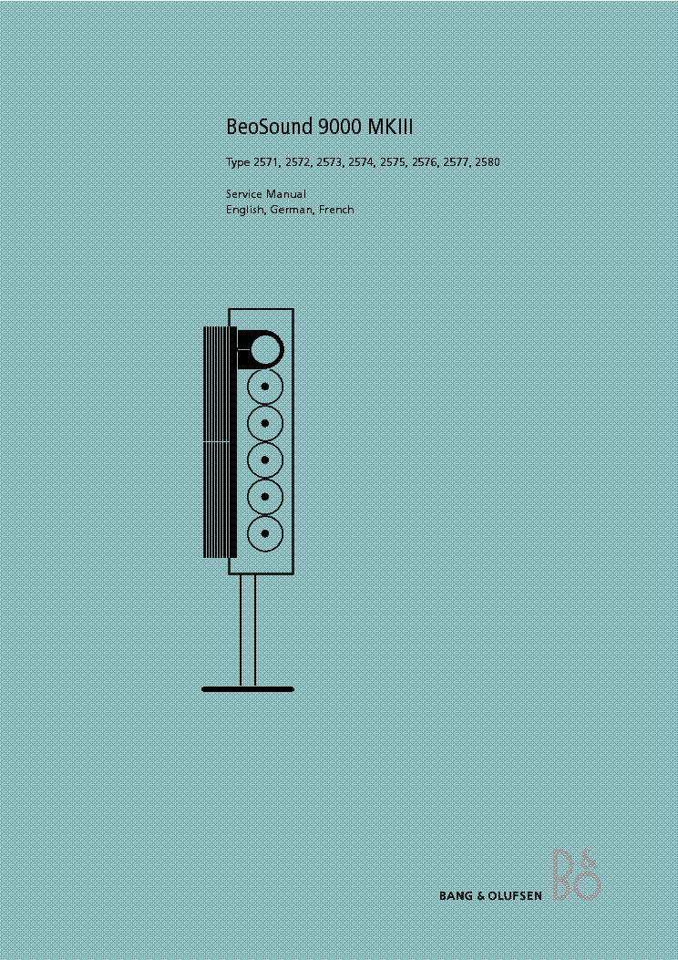 Bang Olufsen Beosound 9000 Mk3 Sm Service Manual Download