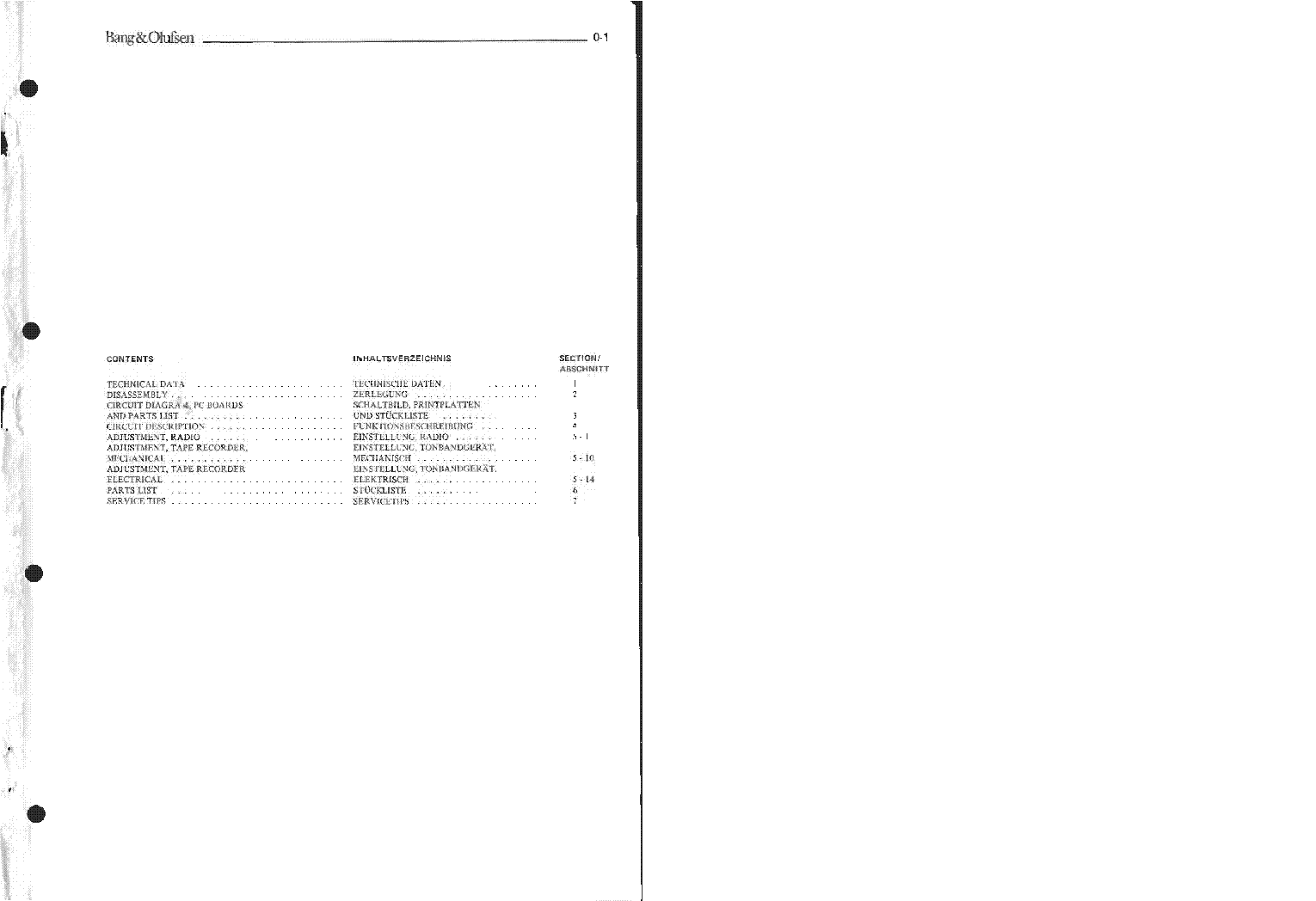 BANG OLUFSEN BEOCENTER 1400 service manual (2nd page)