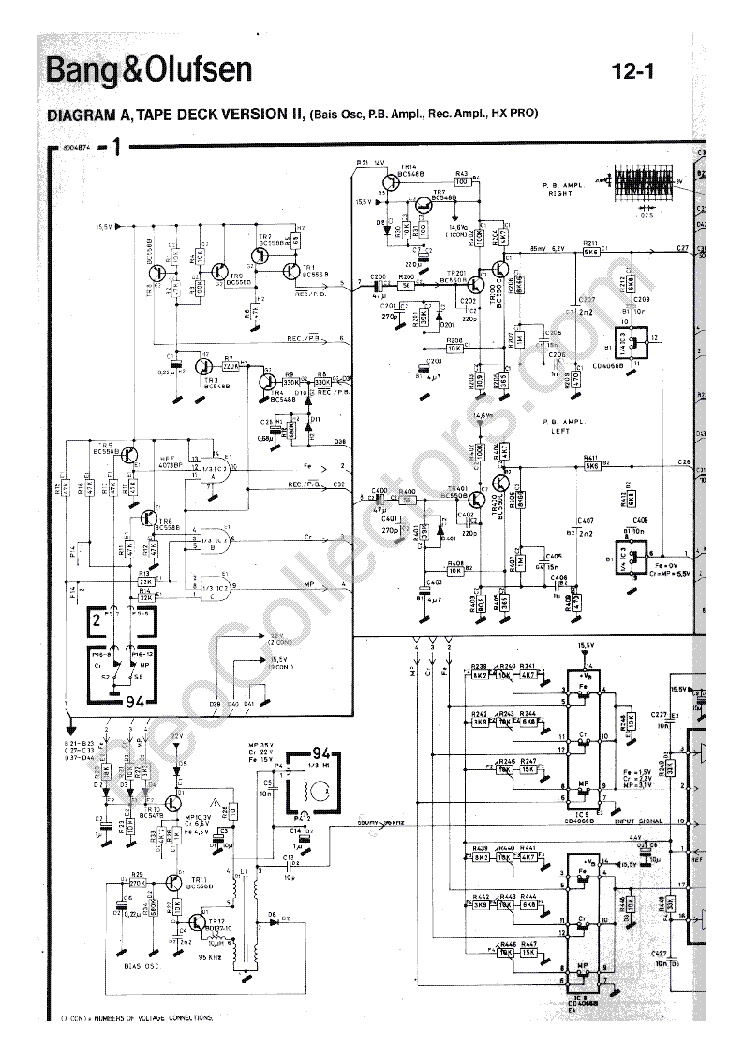 BANG OLUFSEN BEOCORD 6500 SCH service manual (2nd page)