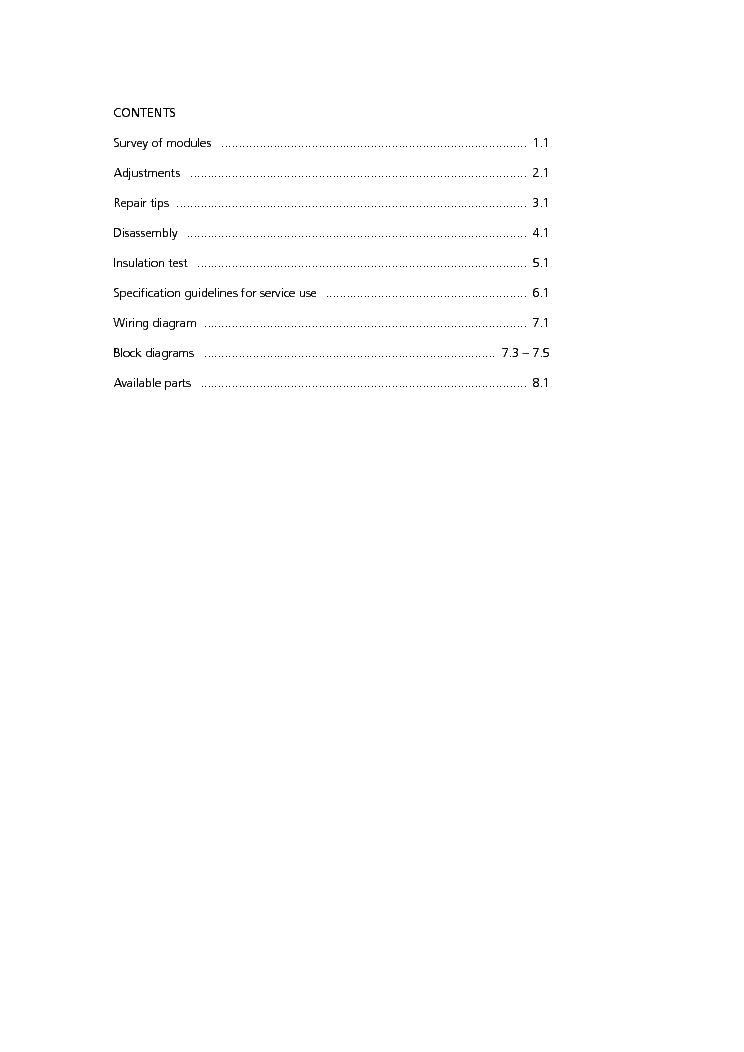 BANG OLUFSEN BEOLAB 3500 MKII service manual (2nd page)