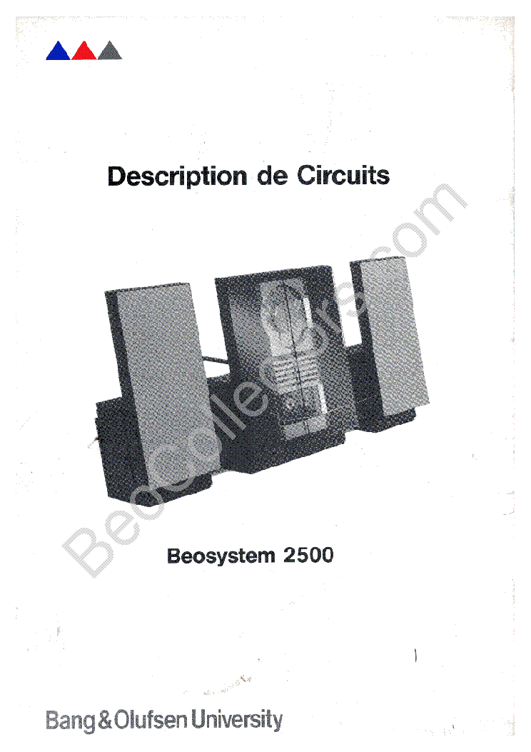 bang olufsen beosystem 2500 service manual download