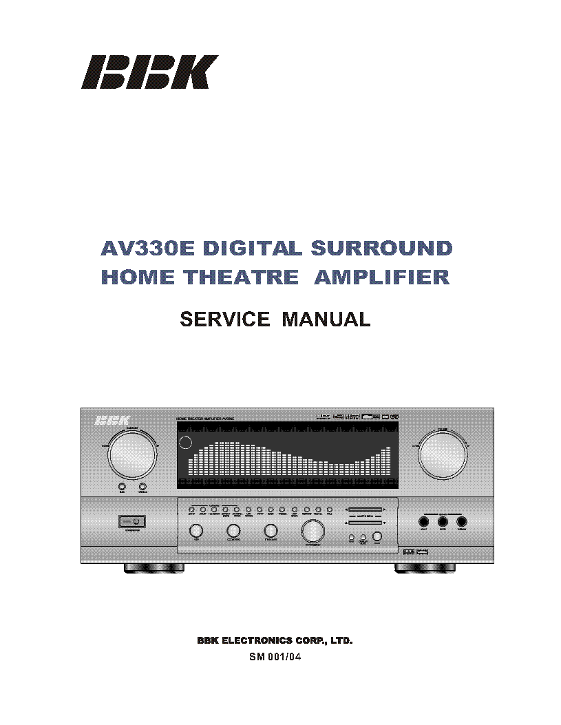 BBK AV330E HOME CINEMA AMPLIFIER service manual (1st page)