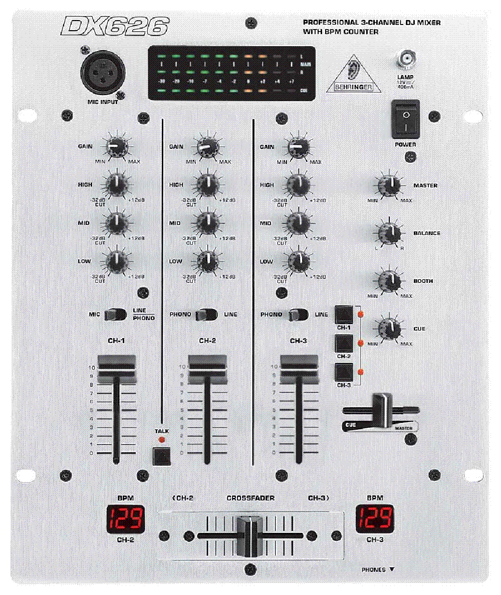 Behringer Dx626 Mixer Audio Service Manual Download