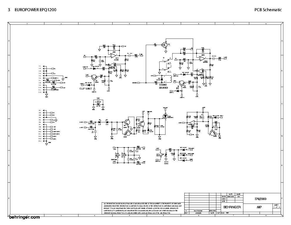 behringer_epq1200_sch.pdf_1 Schematic Diagrams Behringer Protect Circut on