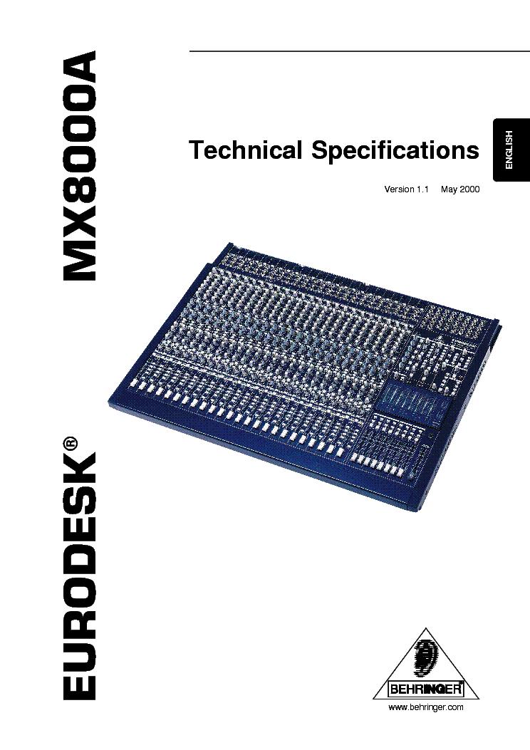 behringer mx8000 manual download memosuccess. Black Bedroom Furniture Sets. Home Design Ideas