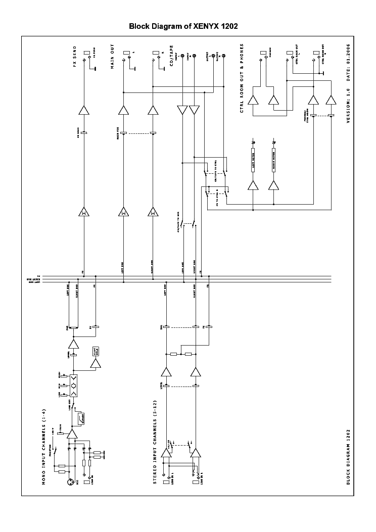 Behringer Xenyx 1202 Service Manual Download  Schematics  Eeprom  Repair Info For Electronics