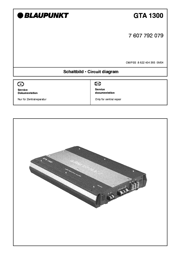 Blaupunkt gta 1300 инструкция