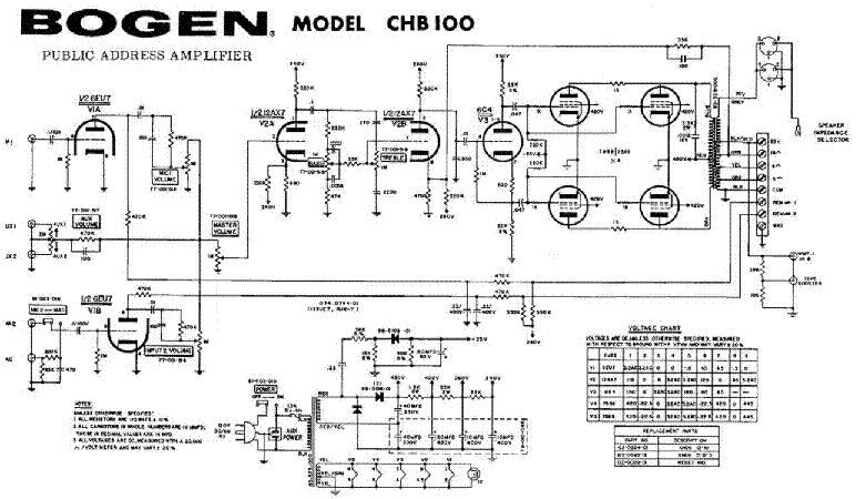 Bogen Chb 100 Sch Service Manual Download Schematics