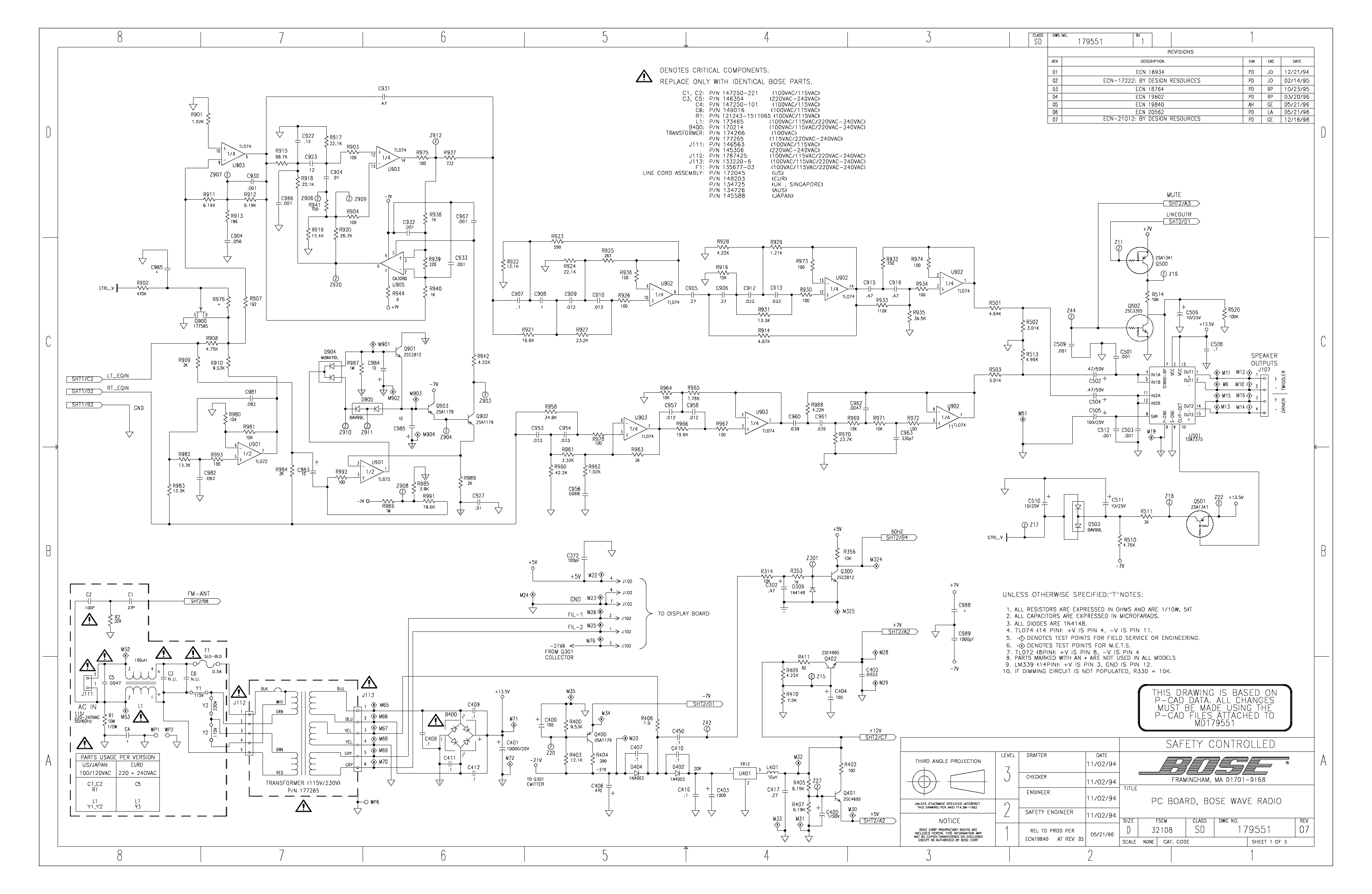 Bose 301 Wiring Diagram Not Lossing Lifestyle Benq Electronic Circuit Diagrams Amplifier Sigtronics Spa 400