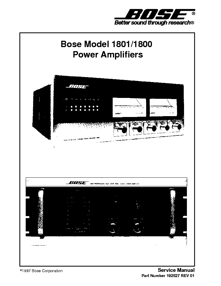 bose 1800 1801 sm service manual (1st page)