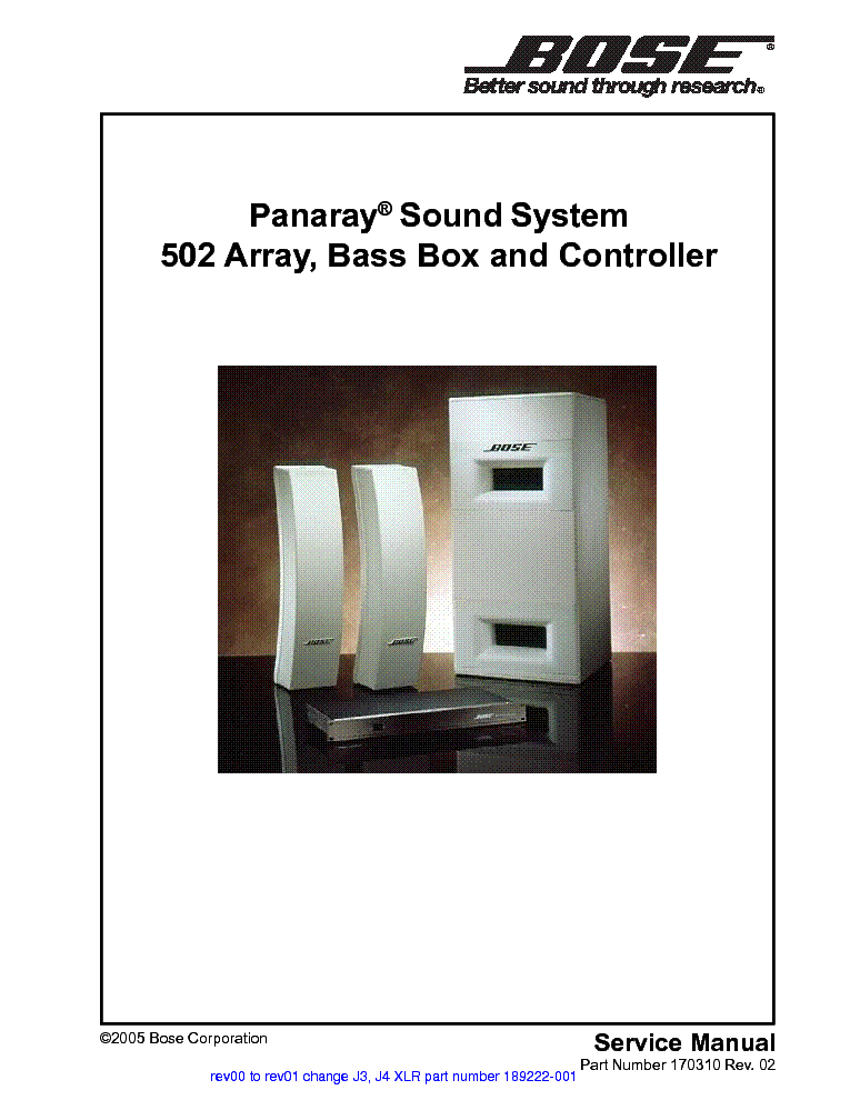 bose aw 1 service manual free download schematics