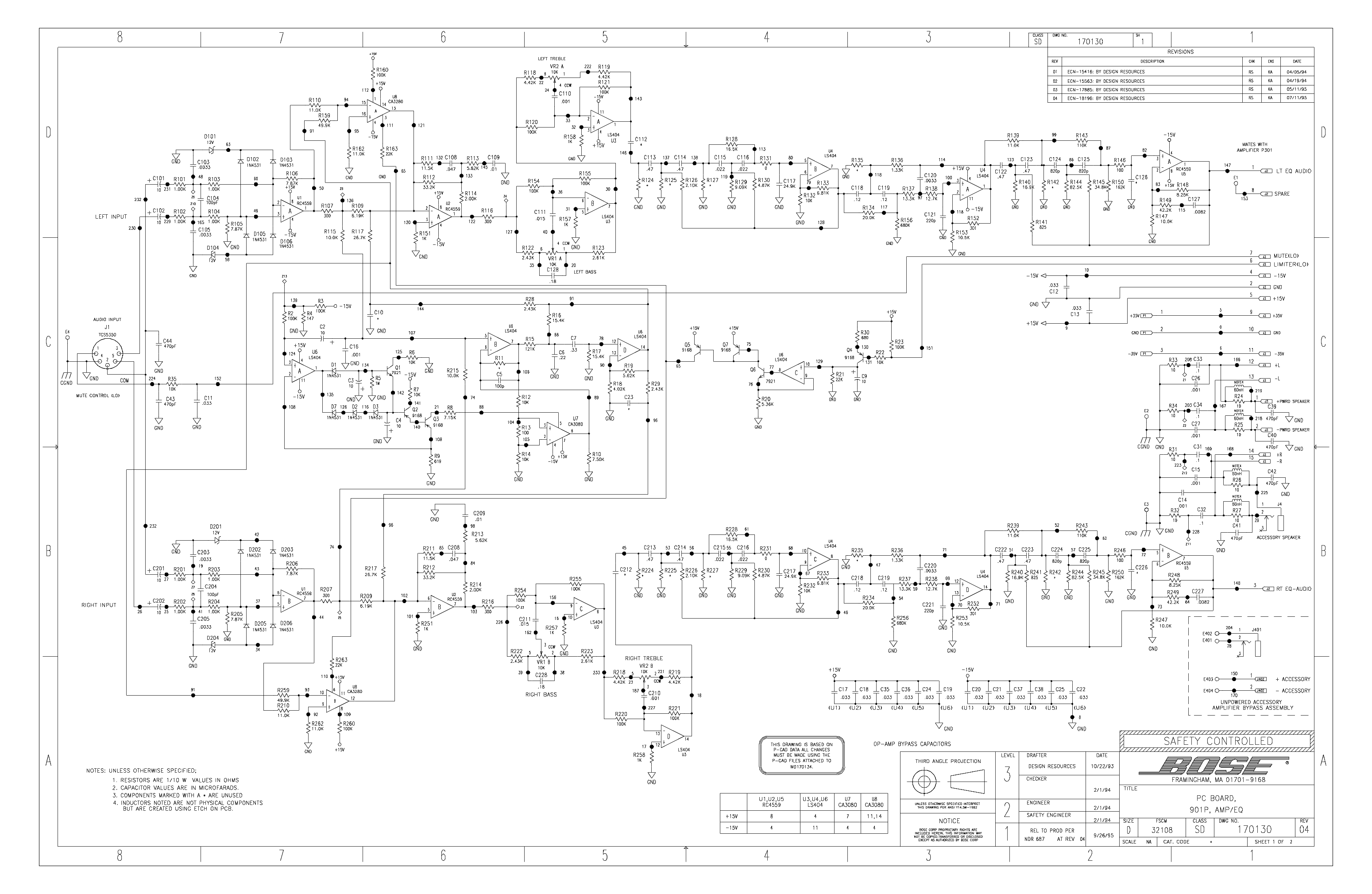 Bose 901 Wiring Diagram 23 Images Diagrams Eq 901ppdf 1 1600 Vi Amplifier Circuit Efcaviation Com At