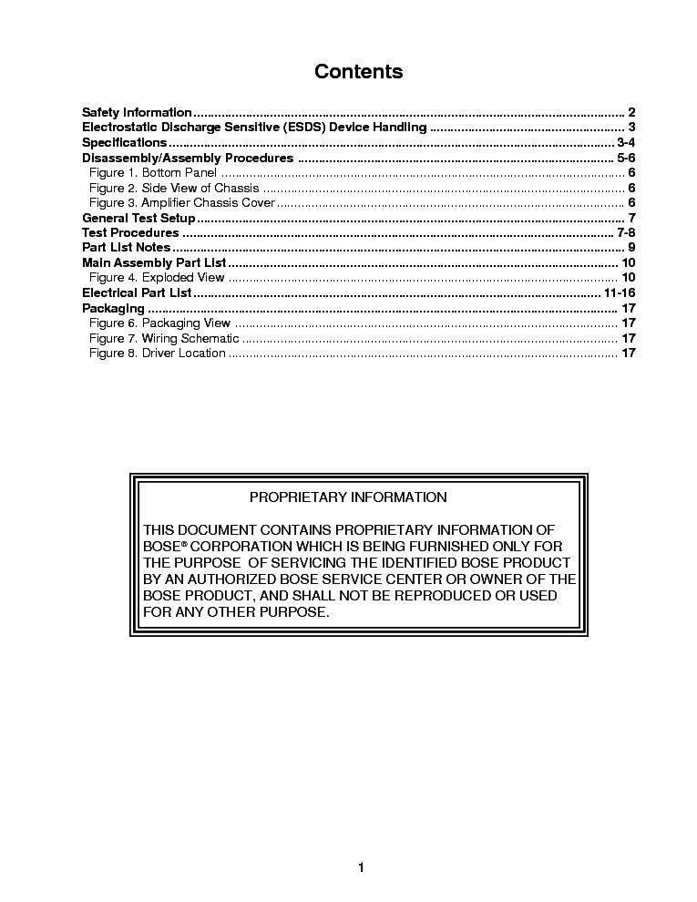 BOSE ACOUSTIM PROFESSIONAL SPEAKER SYSTEM Service Manual ... on