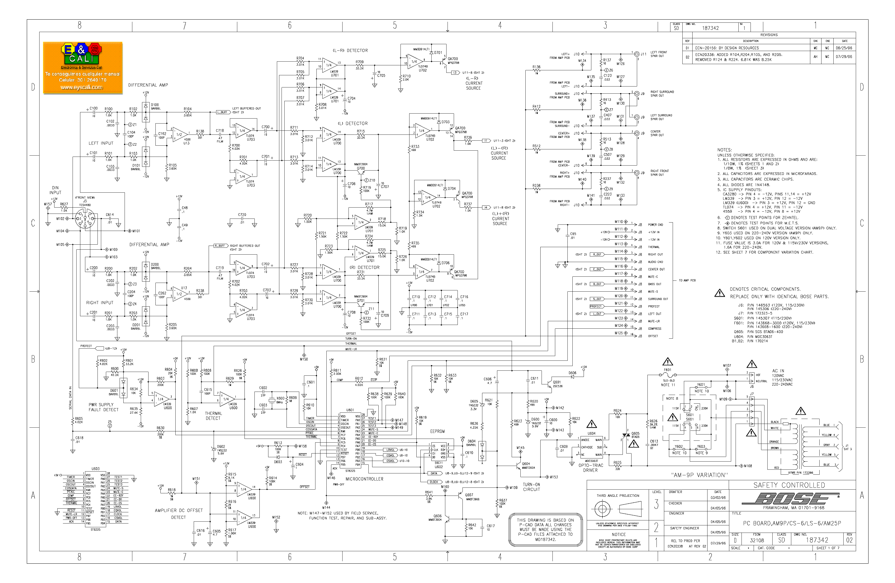 bose_amp9l cs6 ls6 am25p.pdf_1 bose companion 3 wiring diagram wiring diagram simonand bose amp wiring diagram manual at gsmx.co