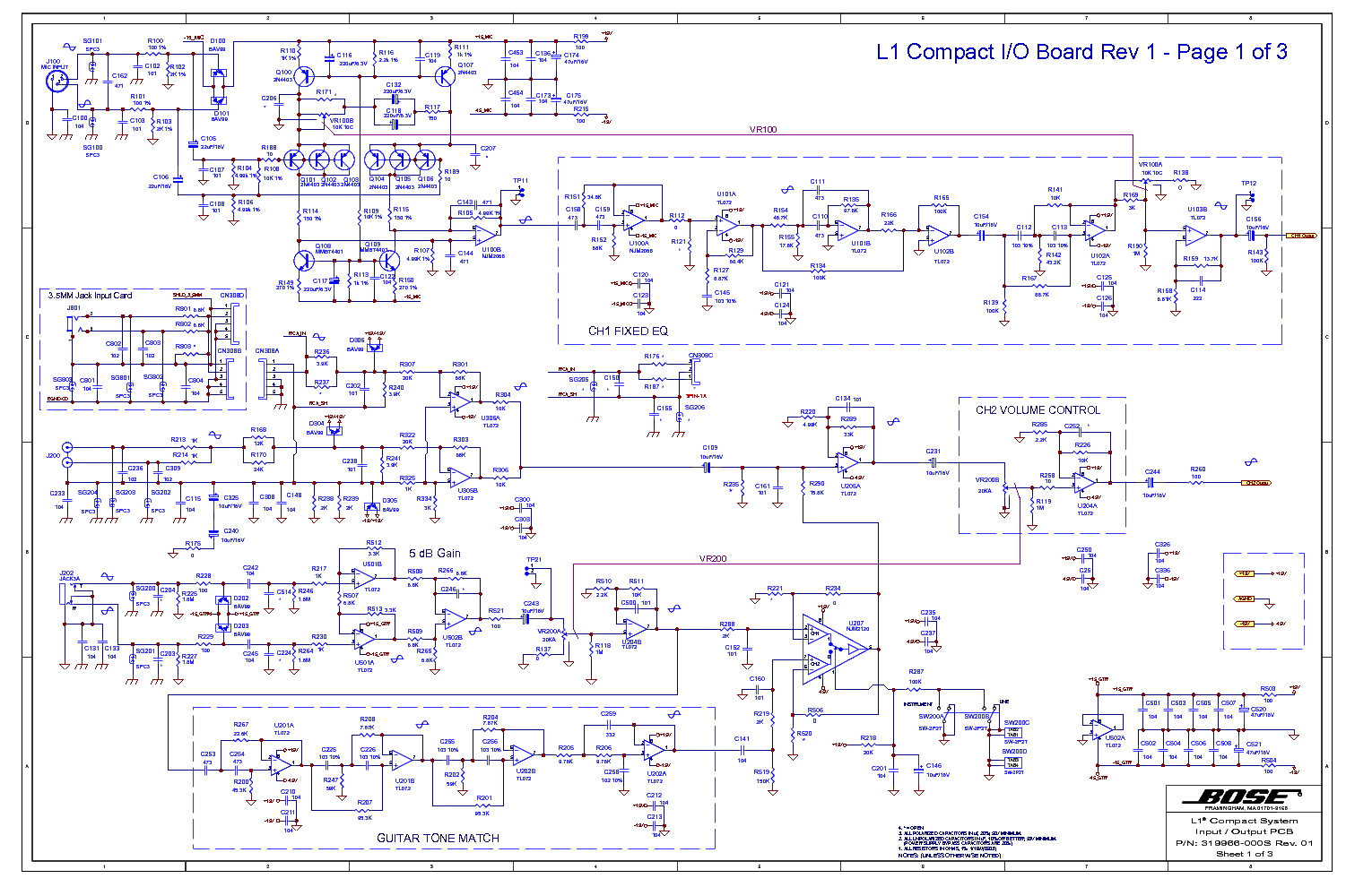 Bose L1 Compact System Service Manual Service Manual Download  Schematics  Eeprom  Repair Info