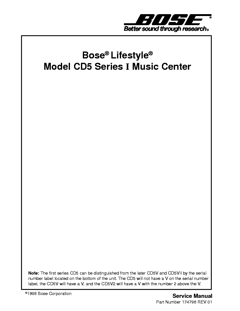 bose lifestyle cd5 service manual download schematics eeprom rh elektrotanya com bose lifestyle 5 music center service manual bose lifestyle model 5 music center service manual