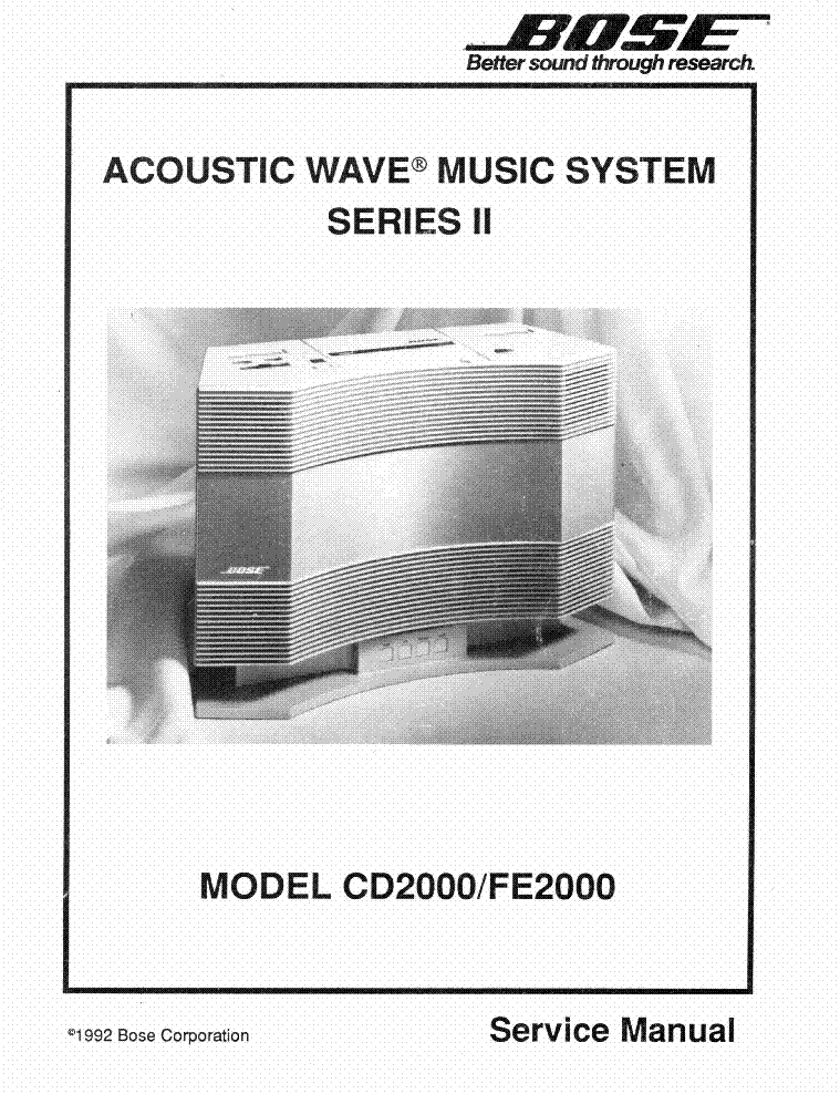 bose model cd2000 fe2000 acoustic wave music system ii. Black Bedroom Furniture Sets. Home Design Ideas