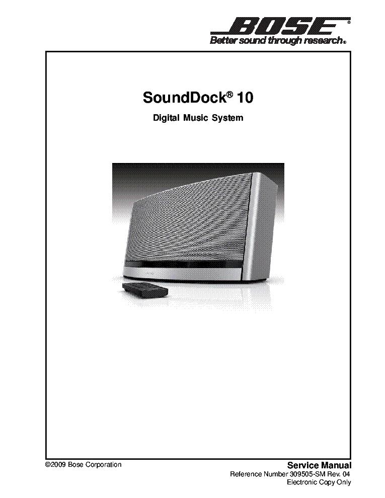 Bose Sounddock Wiring Diagram | Machine Repair Manual